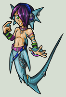 Merman Raver Shark by AlkseeyaKC