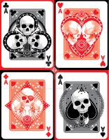 Skulled Aces Set by fireforgegrafx