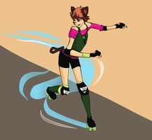Cat Fight on Wheels by JadeJeebie