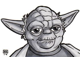 Yoda Sketch Card by TheRigger