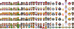 Earthbound Mario Powerups by ToxicIsland