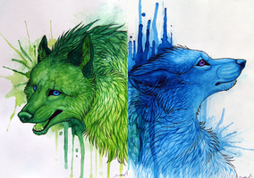 Blues and Greens by TransparentGhost