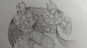 Batman Vs. The Arkham Knight by proxytoxic