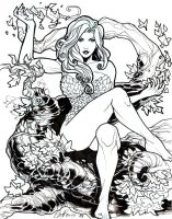 Poison Ivy W.I.P Sketch by TyRomsa