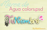 Marca de agua Colors.PSD by RohSweet