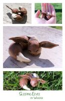 Sleeping Eevee Sculpture by BeeZee-Art
