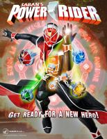 Saban's Power Rider marketing poster (fan-made) by Andruril93