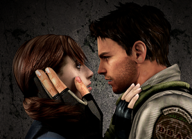 Chris Redfield and Jill Valentine 4 by ceriselightning