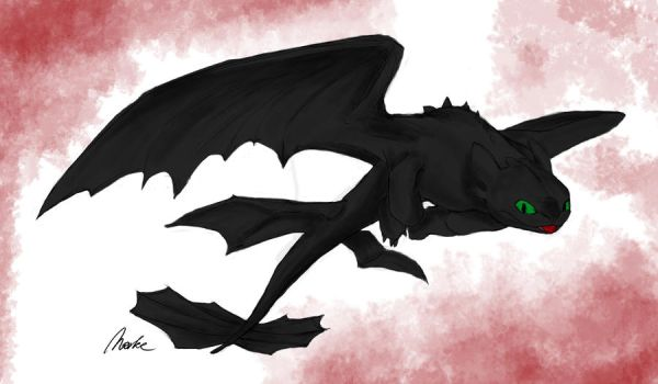 Toothless.Colored by FelipeHSo