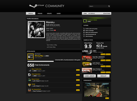 Steam Community Redesign by wiirock
