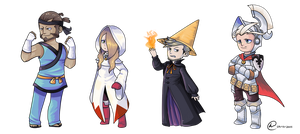 Bravely Default/Final Fantasy: The Sky Knights by XEmoMidnaX