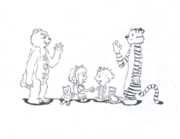Annie and Hobbes by Cathematics