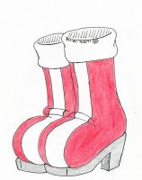 Amy's Red Boots by Dafootclan