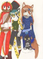 Our Characters in Sonic Boom (colored) by Aurora-ASB