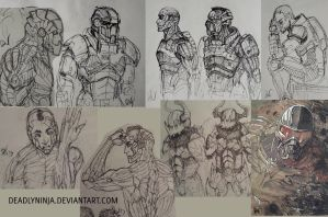 Sketchdump 2013 - 1 by DeadlyNinja