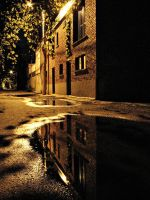 Alleyway Reflections by JustinDustrial