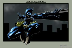Batgirl coloured by Quwaar