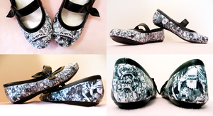 Fairy Tail Shoes by Squisherific