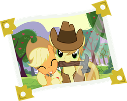 AJ and Braeburn Reunion Picture by CrimsonBeat