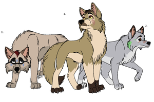 Wolves for adoption by Claire-Cooper