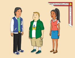 Bobby Hill and friends  Age 19 by rhinoman1984