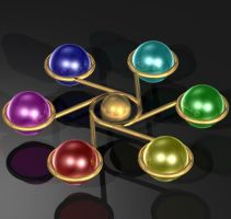 Raytraced spheres abstract thing by mcsoftware