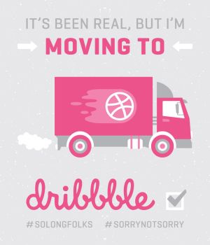 Moving to Dribbble by SaraChristensen
