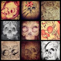 My Skull Doodles by punkins