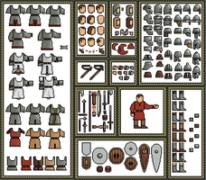 Warrior Templates: Dark Ages / Early Middle Ages by CombinationPrime