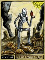 Death Robot Tarot Card by andrevanstone2009