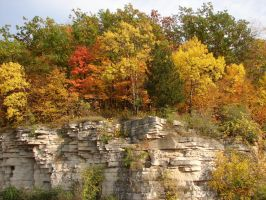 Autumn Cliff Stock Scenery 13 by FantasyStock
