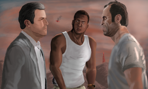 Mikey, Frank and T. by Somelarder