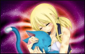 Lucy and Happy by iPhenixia