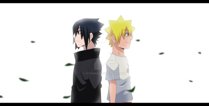 Naruto and Sasuke by Hyuuna