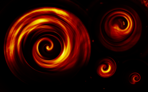 Flame Swirl Wallpaper by Ambience19