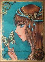 4. ACEO - Steampunk by Michaela9