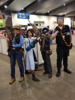 PAXAUS 2014 me and the rest of the tf2 blu team by rubymcnugget