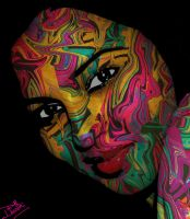 psychedelic woman by kdhruthireddy