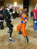 MC 2013 - Morphsuit Man and Goku by vincent-h-nguyen