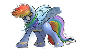 Floofy Rainbow Dash by Noben