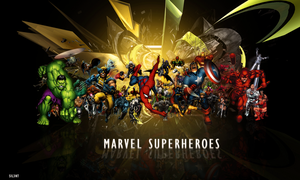 Marvel Superheroes by xSil3ntx