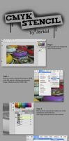 CMYK stencil tutorial by jarbid