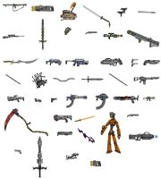 Alienaa Images 01: Weapons by Acolite