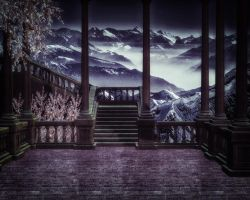 Staircase Premade Background 3 by VIRGOLINEDANCER1