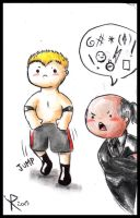 WWE chibi 1 - Brock and Paul Heyman by FuriarossaAndMimma