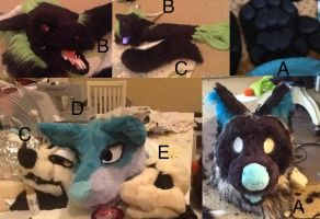 Fursuit premade parts for sale! by Yamishizen