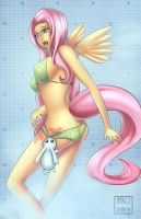 MLP - Fluttershy at the SPA by x-Nekopunch-x