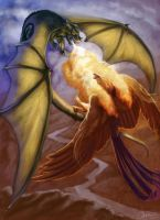 Dragon Phoenix Battle by CharReed