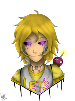 Human Chica by Darkdeathqueen