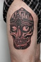 tibet skull with crazy eyes by graynd